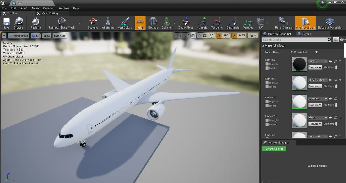 Cesium for Unreal Flight tracker aircraftModel