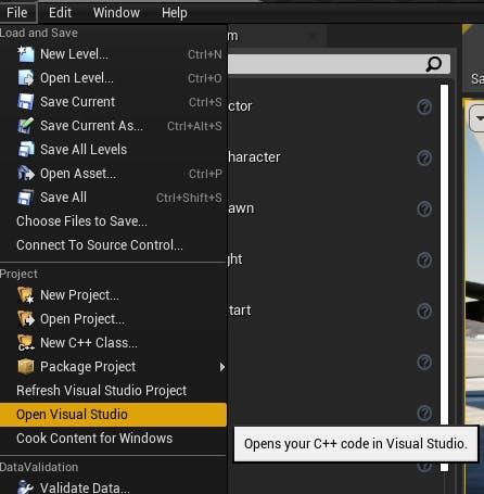 Cesium for Unreal Flight tracker open visual studio