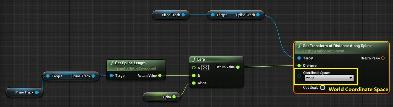 Cesium for Unreal Flight tracker splineLerpBlueprintNetwork