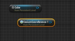 Cesium for Unreal fly to add cube add geo