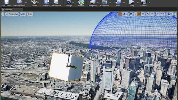 Cesium for Unreal fly to add geo marker