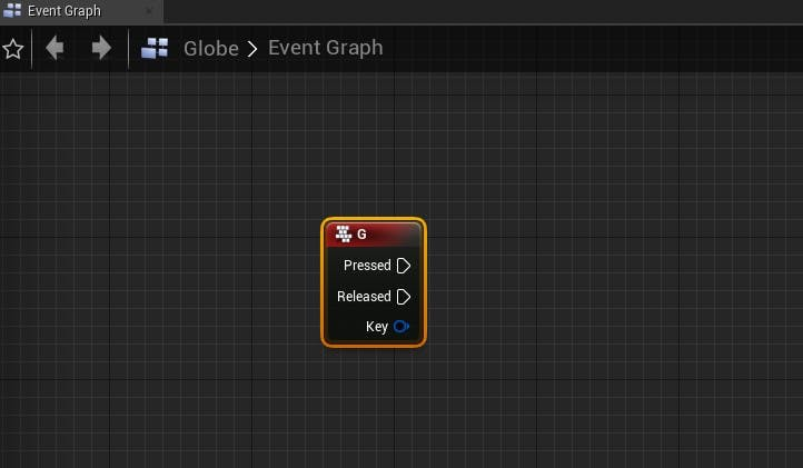 Cesium for Unreal fly to key event g