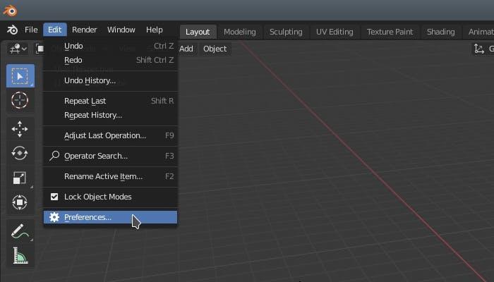 Integrating with Blender EditPreferences