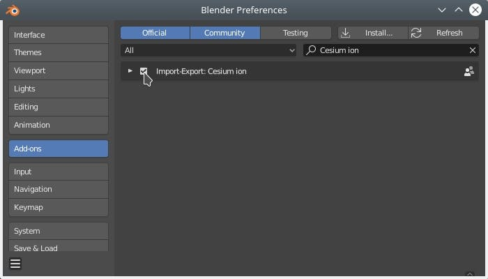 Integrating with Blender EnableAddon