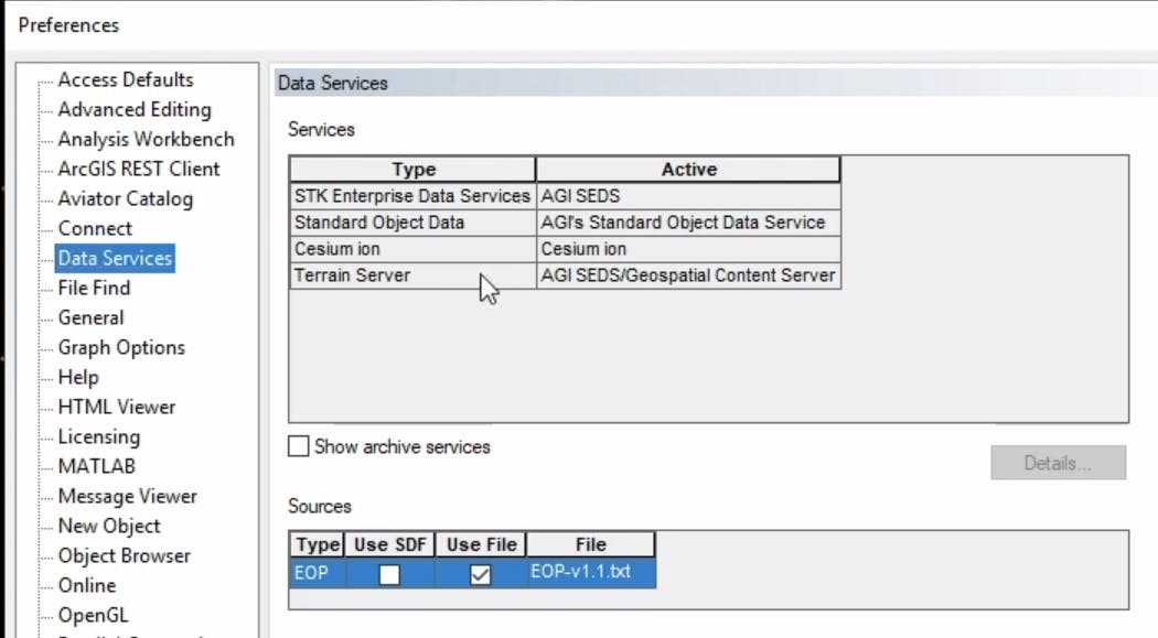 Integrating with STK STK data services