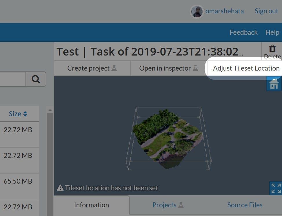 Integrating with WebODM Adjust Tileset