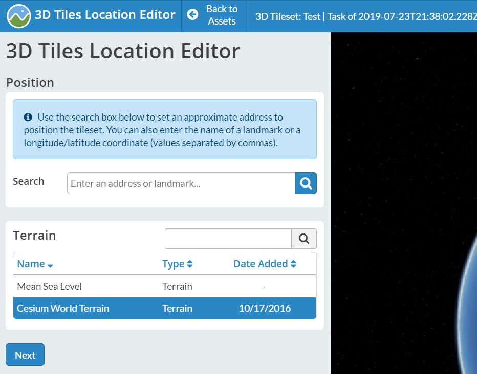 Integrating with WebODM Location Editor 1