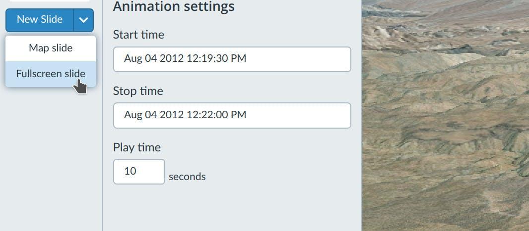 Time Stories fullscreen slide