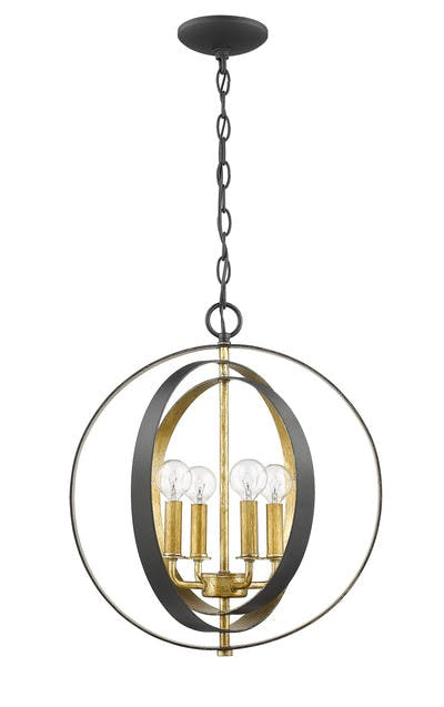 The Orbit Pendants (Dual color) in Forged Black & Gilded Gold