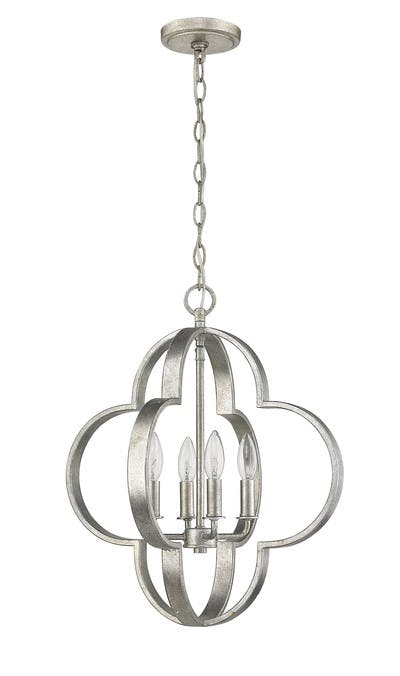 The quatrefoil Chandelier (1) in Aged Silver