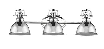 Warehouse Vanity Light (2) in Polished Chrome