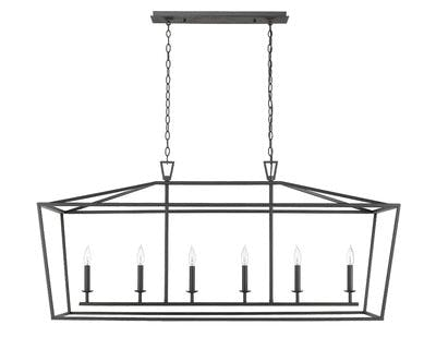 Ponce City Island Lighting in Forged Black