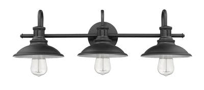 Warehouse Vanity Light (1) in Matte Black