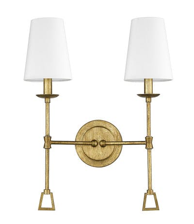Ponce City Double Sconce in Gilded Gold