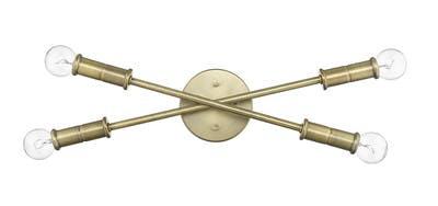 Aquarius Sconce (Crossed) in Antique Brass