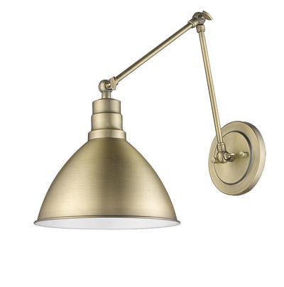 Lenox Sconce (Jointed) in Antique Brass