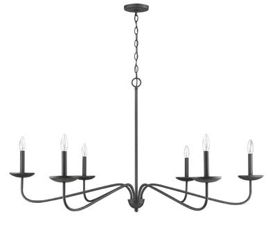 Signature Chandelier in Forged Black