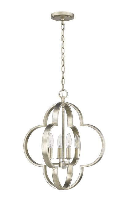 The quatrefoil Chandelier (1) in Champagne Gold