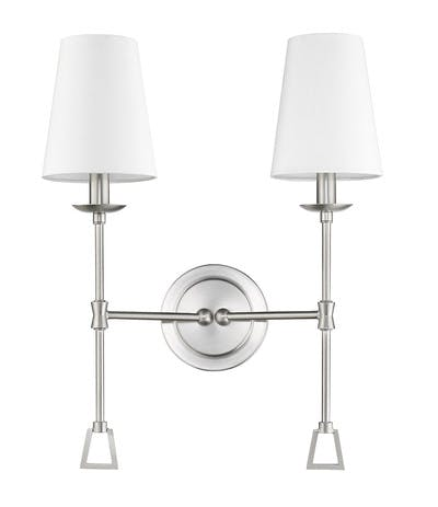 Ponce City Double Sconce in Satin Nickel