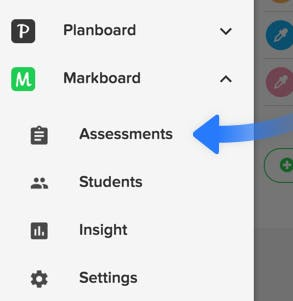 click assessments from the navigation menu