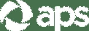 APS logo in white