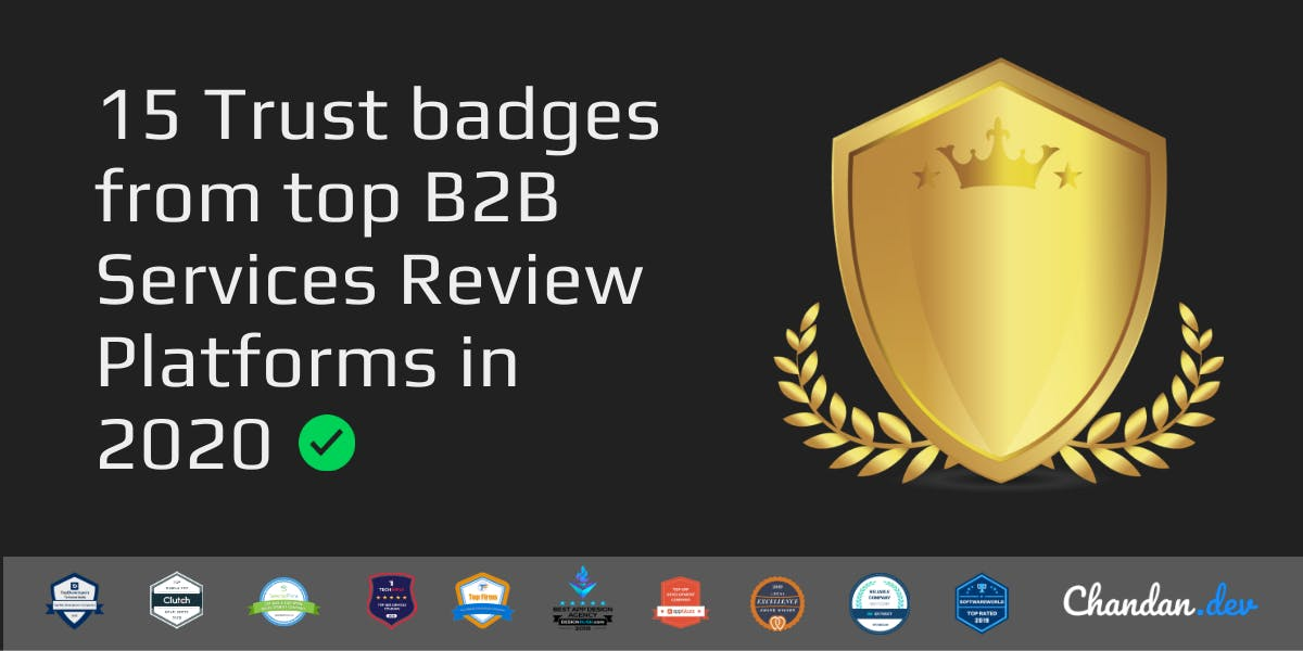 Cover Image for 15 Trust badges from top B2B Services Review Platforms in 2020