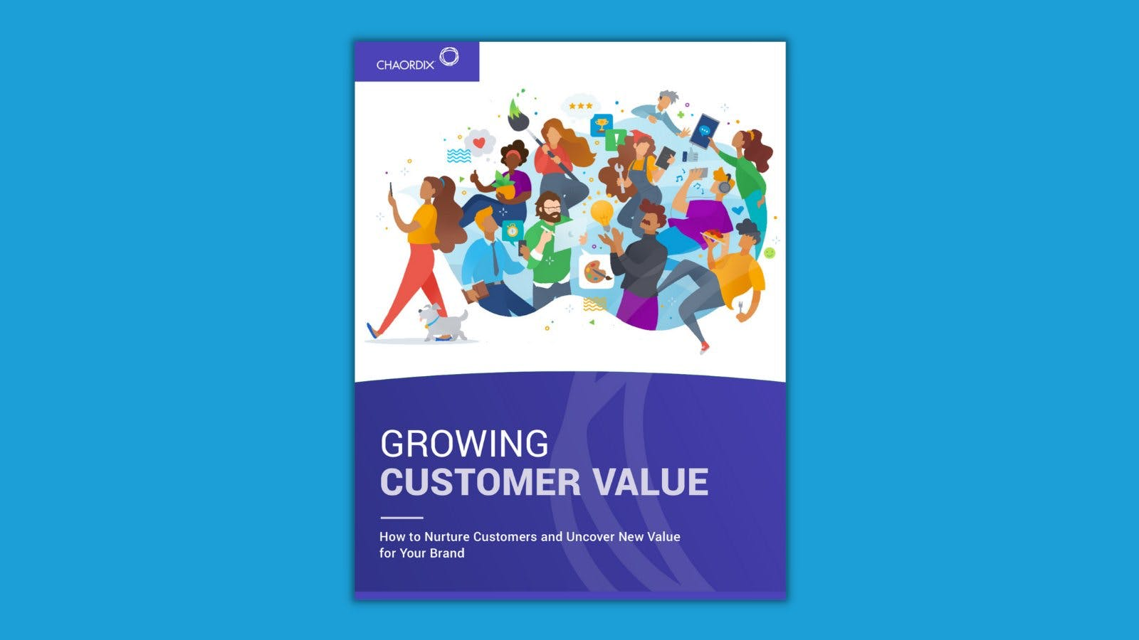 A digital image of the Growing Customer Value ebook cover