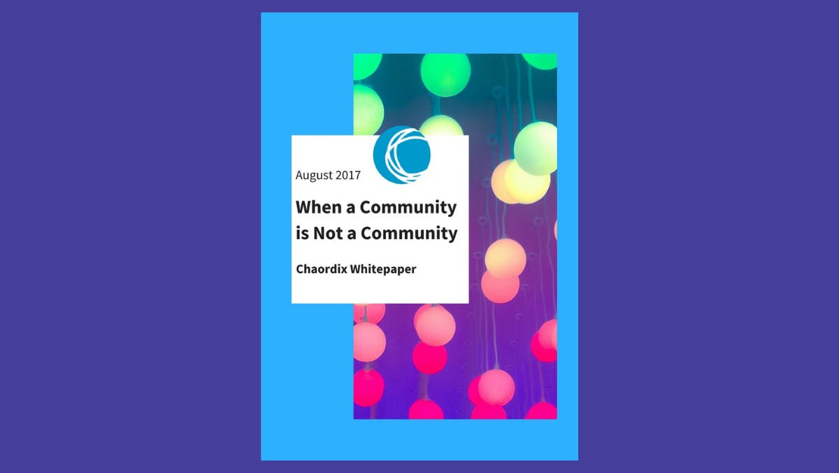 A digital image of When a Community is Not a Community ebook cover