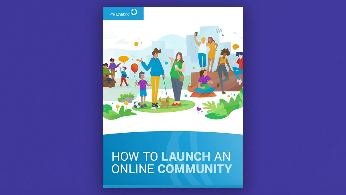 A digital image of the How to Launch an Online Community ebook cover