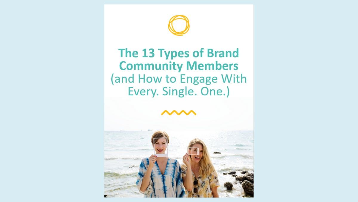 A digital image of the 13 Types of Brand Community Members ebook cover