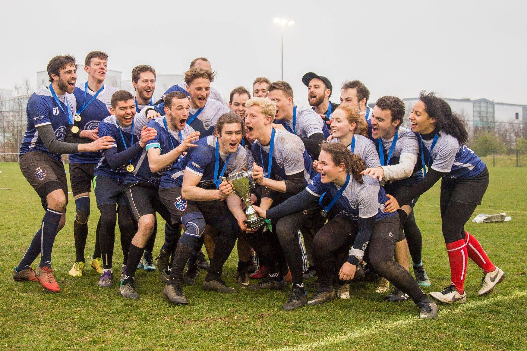London Quidditch Club lift the BQC Trophy