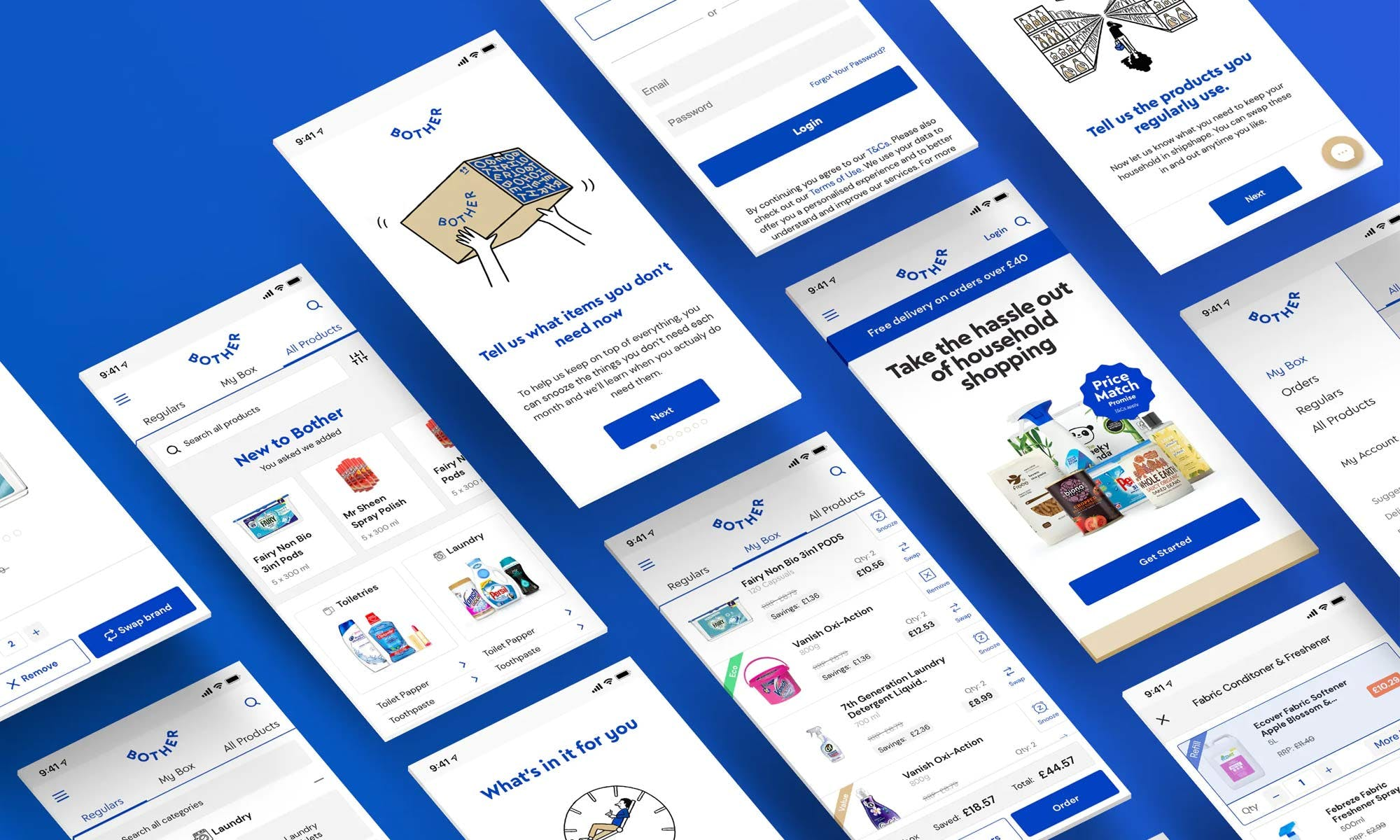 Chelsea Apps screenshots from the bother e-commerce app