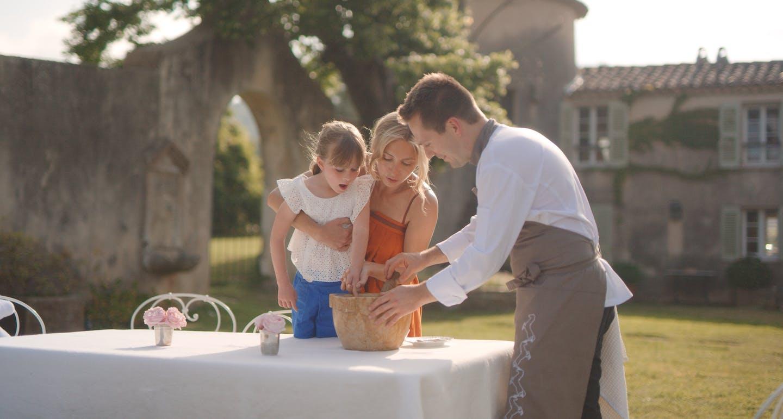 Famille et partage à l'hôtel cheval blanc