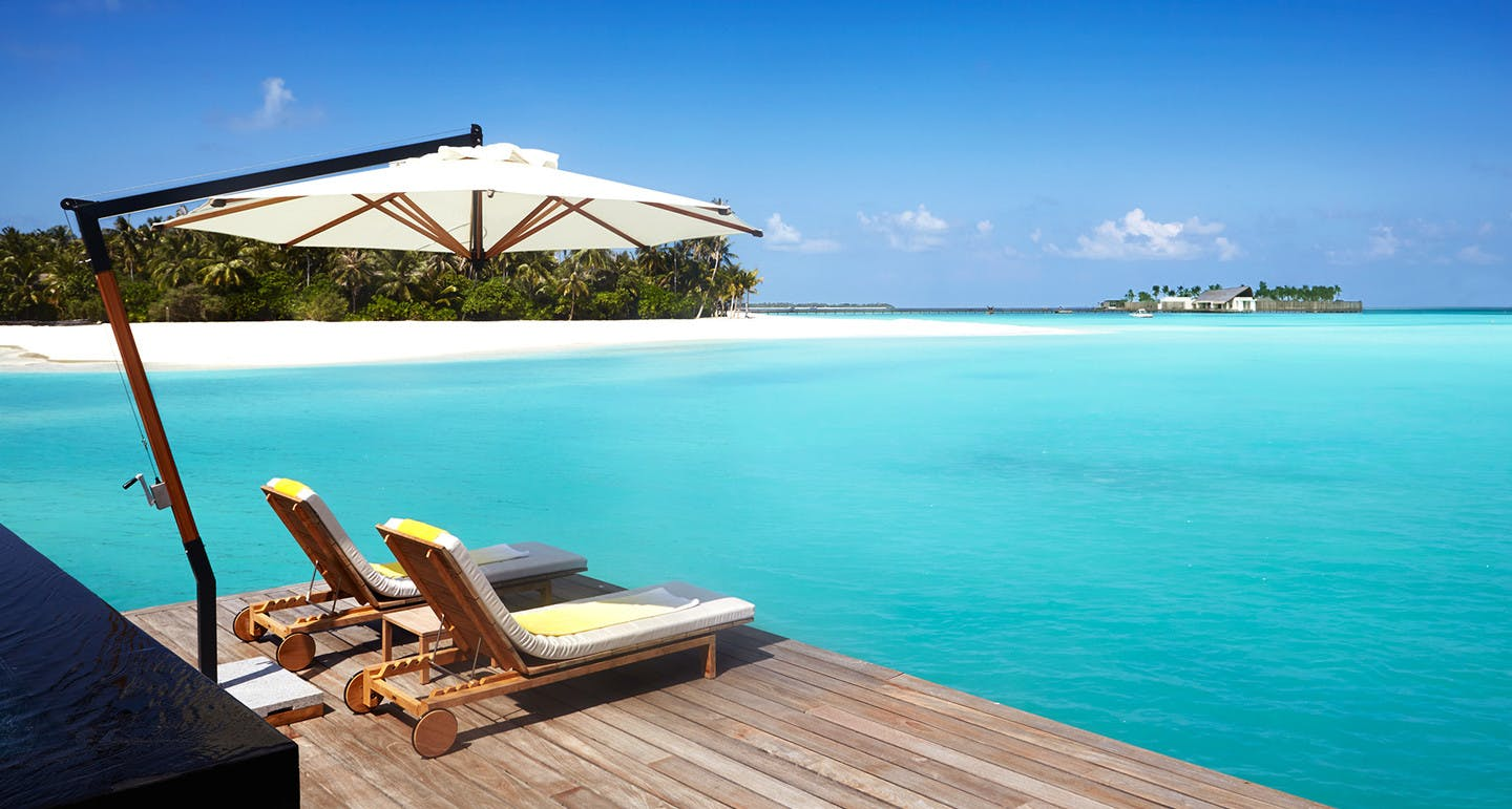 Lagoon Villa on stilts │ Cheval Blanc Maldives Hotel