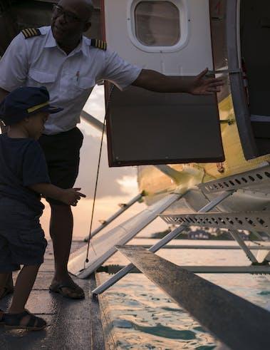 Vol en hydravion aux Maldives