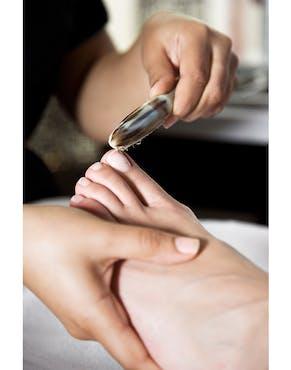 a foot treatment