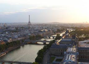 View of Paris from the hotel cheval blanc paris