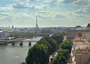 vue de la seine depuis hotel de luxe parisien cheval blanc