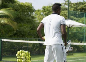Tennis Player on Maakurandhoo Island.