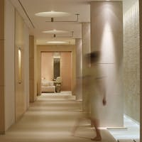 the elegant cheval blanc spa corridor
