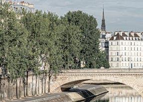 paris view under the bridge near cheval blanc hotel