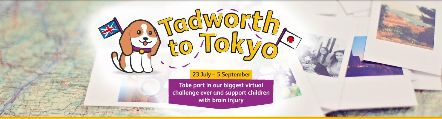 Tadworth to Tokyo 2021 banner