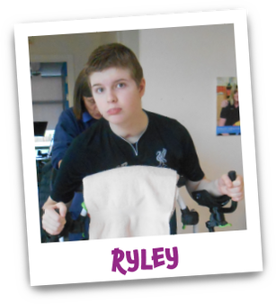Polaroid image of Riley with his name underneath