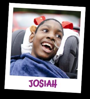 Polaroid image of Josiah with his name underneath