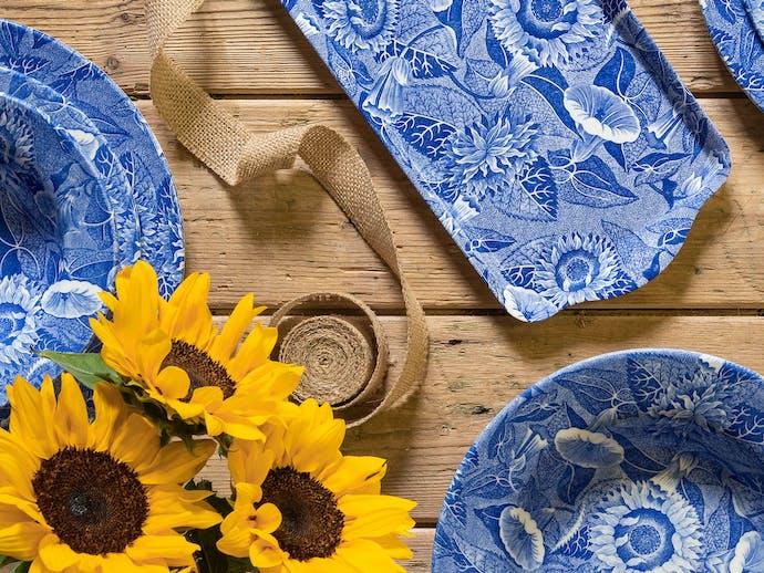 Spode Sunflower - Blue Room