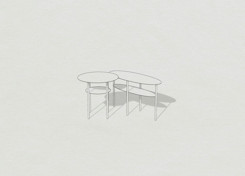 Metal side tables - Oval and Round metal side tables