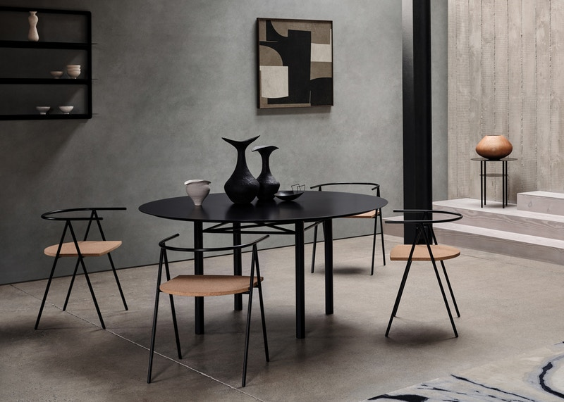 Bendon Table - Christian Watson Bendon Table - Metal Dining Table