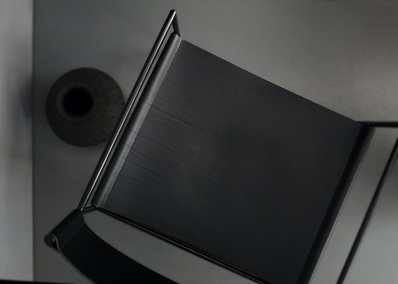 Metal Armchair - Allingham Armchair - Black Leather