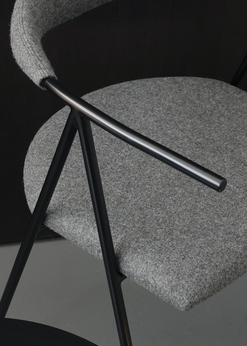 Timperly Dining Chair - Cork and Upholstered Timperly Chair -  Metal Chair