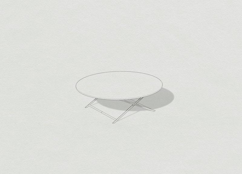 Metal Coffee Table - Mirrored Coffee Table